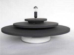 Drehbühne mit 3 Ebenen in schwarz