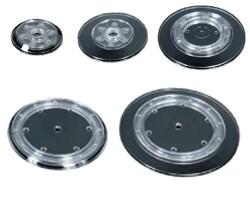 Drehteller schwarz Kunststoff verschiedene größen